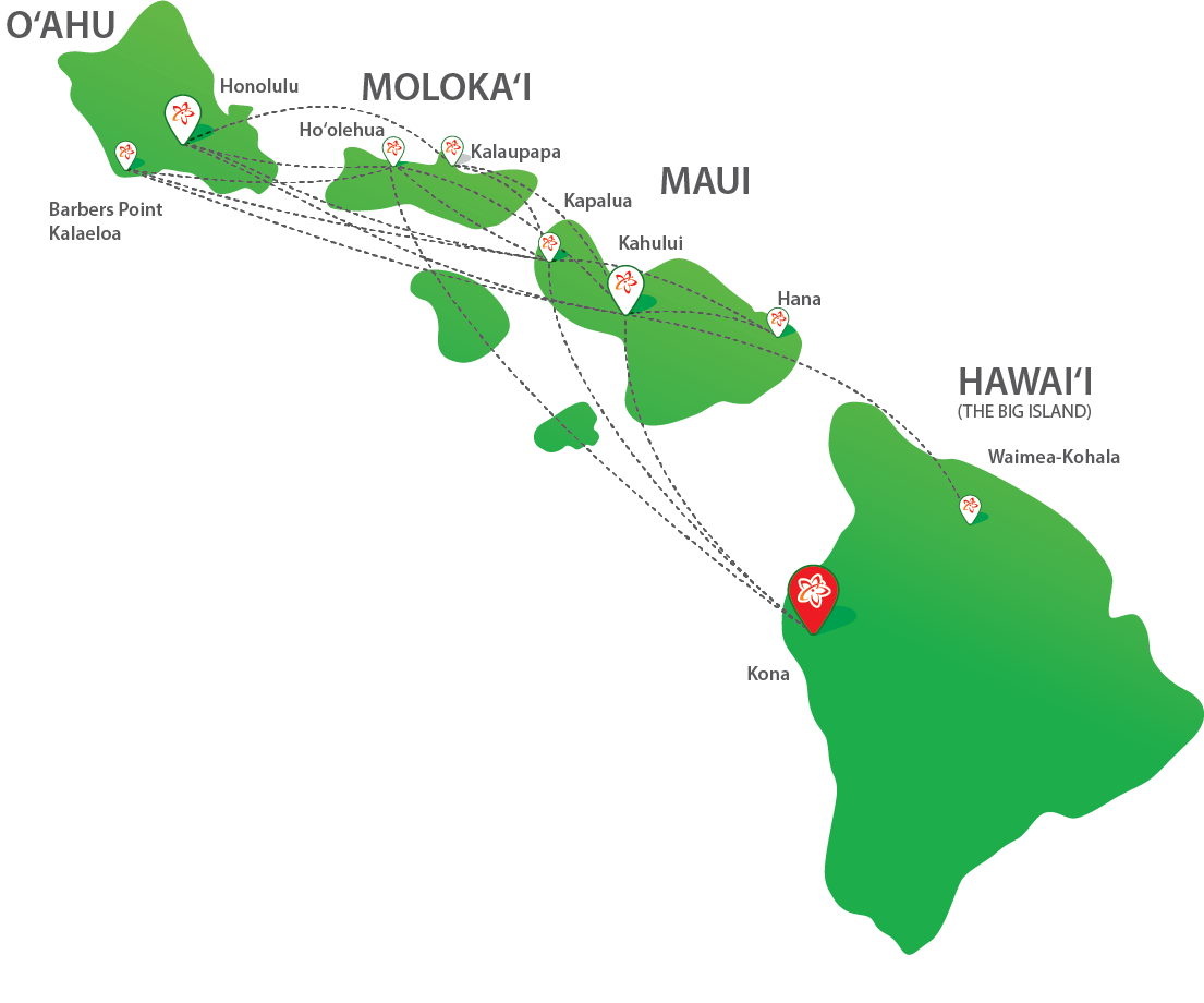 Hana airport maui mokulele airlines flight map sciox Images