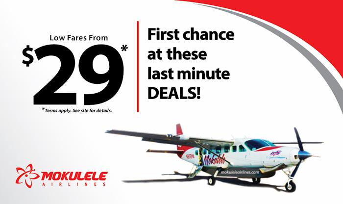 Travel Deals Mokulele Airlines Hawaii S 1 Island Hopper